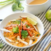 Coconut Curry Veggie Noodle Bowl