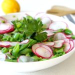 Oh-So-Pretty Snap Pea Salad with Honey Lemon Vinaigrette