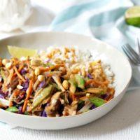 Thai Peanut Veggie Rice Bowls