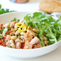 Italian Style Preserved Tuna Recipe with Herbs & Beans