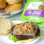 MacDaddy Veggie Burgers with Balsamic Grilled Onions