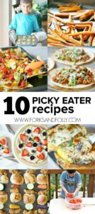 Need picky eater recipes for your family? From hidden veggies to food on a stick, navigate the world of little picky eaters with these ten creative recipes.