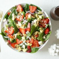 Strawberry & Avocado Spinach Salad