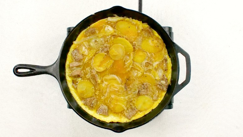 Make-Ahead Spanish Omelet with Sausage & Potatoes