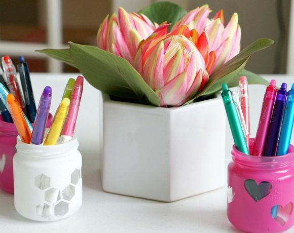DIY Mason Jar Pencil Holders for Back to School Supply Organization