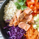 Riced Veggie Bowls with Smoked Salmon