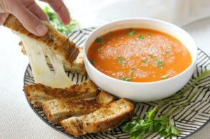 The Perfect Grilled Cheese Sandwich is now easier than ever!  Serve it with tomato soup for a winning classic comfort food combo.