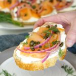 Smoked Salmon Toasts with Fried Capers