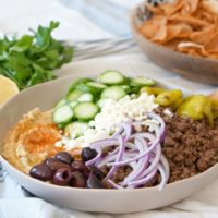 Loaded Hummus with Spiced Lamb