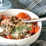Risotto Style Farro with Wild Mushrooms & the Perfect Glass of Vino