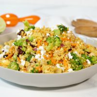 Curried Couscous with Chickpeas and Broccoli