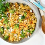Curried Couscous with Chickpeas & Broccoli
