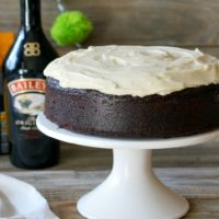 Guinness Chocolate Cake with Baileys Cream Cheese Icing