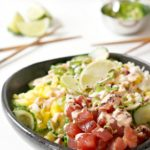 Obsession-Worthy Cucumber Zoodle Tuna Poke Bowls