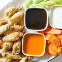 These are the CRISPIEST Baked Chicken Wings. Ever.