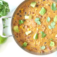 Easy Cheesy Vegetarian Taco Soup