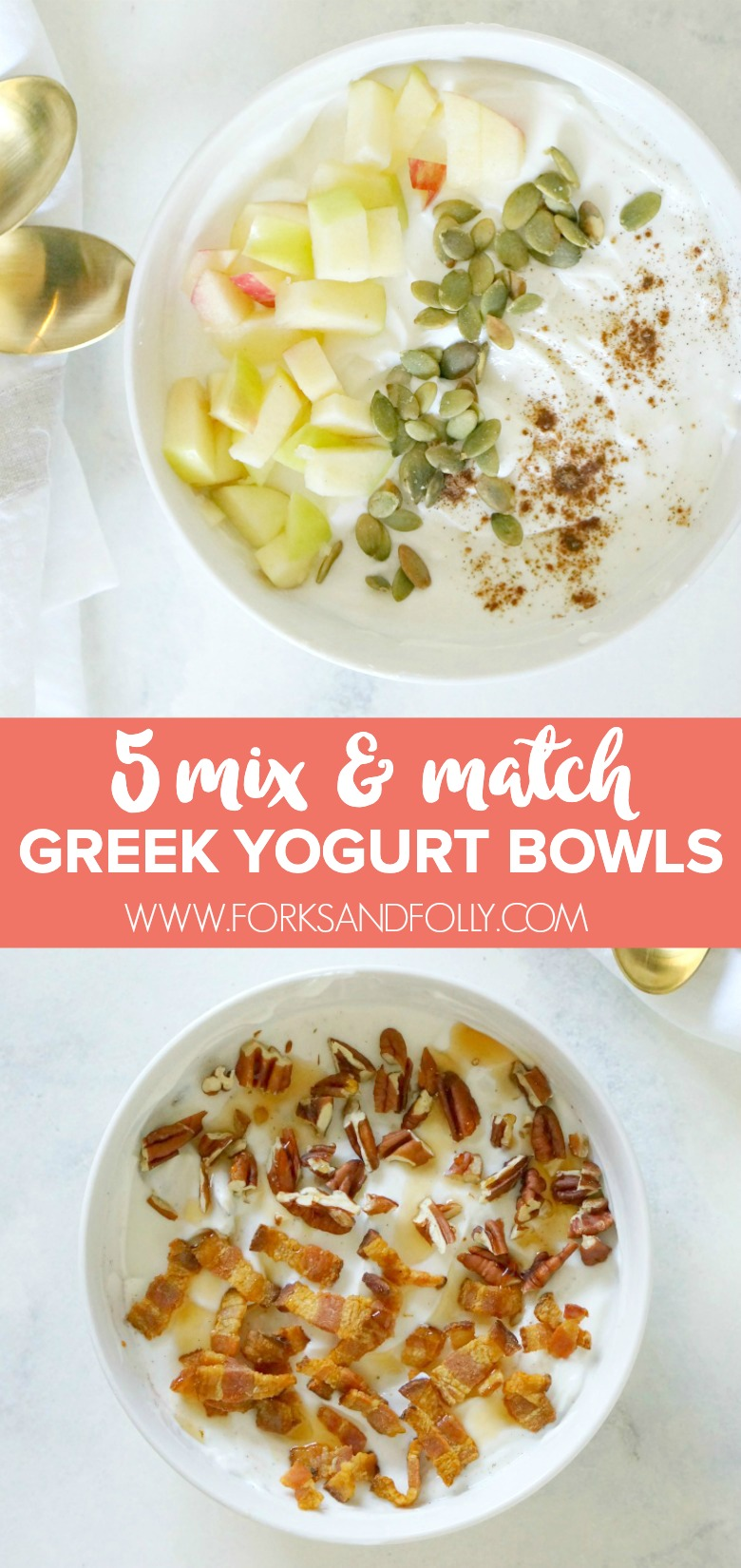 These 5 Wake-Up Worthy Greek Yogurt Breakfast Bowls make getting up early in the morning totally worth it. I think my fave might be the Maple Bacon & Pecan Greek Yogurt Breakfast Bowls. What about you