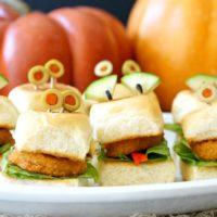 Eyes-On-You Halloween Chicken Nugget Sliders