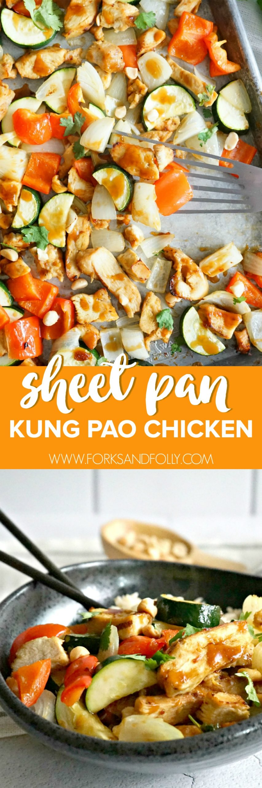 When life gives me lemons, I make Easy Sheet Pan Kung Pao Chicken.  With pantry staples and a single sheet pan dinner is ready in just 30 minutes!  Take that Monday.
