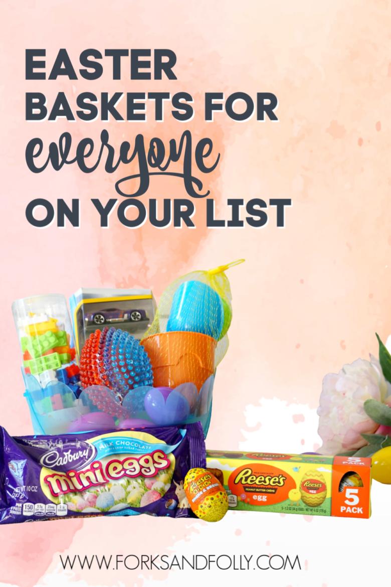 We've got a little something for everyone in this year's Easter Basket Ideas.  Kids of all ages, and adults too, will enjoy these thoughtful baskets that share the (chocolate) love this season!