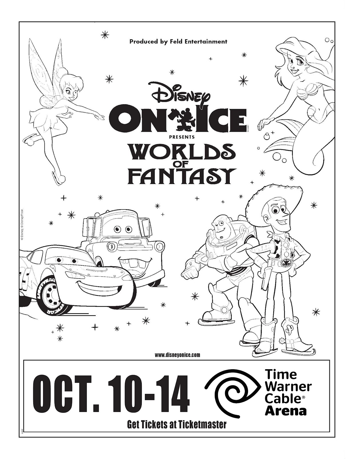 Oh And Just So Youre Not Feeling Left Out Heres A Little Prize For Everyone Free Disney On Ice Coloring Page Click The Image Print